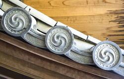 Details of Japanese temple roof architecture Royalty Free Stock Photography