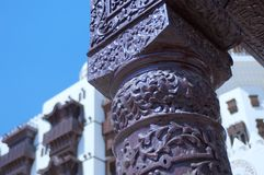 Details of Jeddah Old Mosque. Saudi Arabia Royalty Free Stock Images