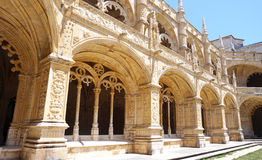 Details of jeronimos interior Royalty Free Stock Images