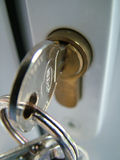 Details of key in lock Royalty Free Stock Photo