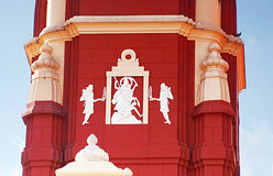 Details of Laxminarayan Temple in Delh Stock Images