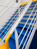 Details and life boat on ferry boat deck.  Royalty Free Stock Photo