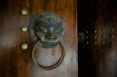 Details of lion-shaped door knocker Royalty Free Stock Photography