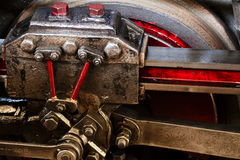 Details of locomotive's valve gear Stock Image