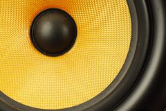 Details of loud speaker. Details of fabric and material of a loud speaker woofer royalty free stock photography