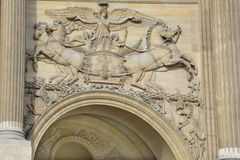 Details of Louvre Museum Royalty Free Stock Photo