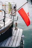 Details of luxury yacht. Docked at Sopot Pier, Baltic Sea Stock Photos