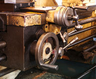 Details of a machine, old and used.in the factory Royalty Free Stock Images