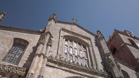 Cathedral of Lamego. Details of the main facade of the Cathedral of Lamego, Portugal stock video
