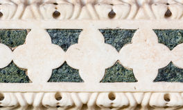 Details of a marble decoration taken from a church in Pisa, Ital. Y royalty free stock image