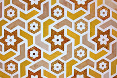 Details of marble surface with stone inlay. Stock Image