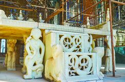 Details of Marble throne in Golestan palace, Tehran Royalty Free Stock Image