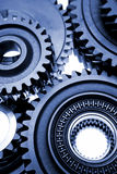 Details of mechanical gears Royalty Free Stock Photos