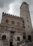 Details of the medieval San Gimignano Stock Image