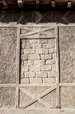 Details of medieval wall at Carcassonne. In France Royalty Free Stock Images
