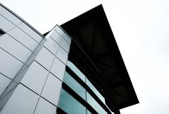 Abstract view of a modern, IT related headquarters showing its artistic presence. Royalty Free Stock Photos
