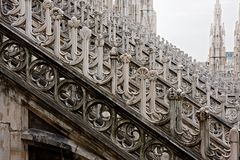 Details from Milan Cathedral Dome, Italy Royalty Free Stock Photography