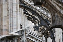 Details from Milan Cathedral Dome, Italy Royalty Free Stock Images