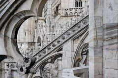 Details from Milan Cathedral Dome, Italy Stock Image