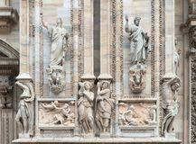 Details of Milan cathedral Stock Photography