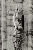 Details of milan's cathedral Stock Photos