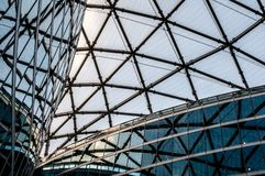 Details of modern architecture, glass office buildings Stock Images