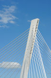 Details of modern bridge Royalty Free Stock Photo