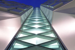 Details of modern buildings at dusk royalty free stock photography