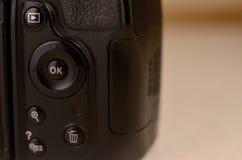 Details of modern digital SLR photocamera Royalty Free Stock Images