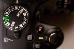 Details of modern digital SLR photocamera Stock Photos