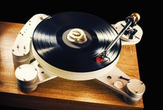 Modern Gramophone in Work Royalty Free Stock Images