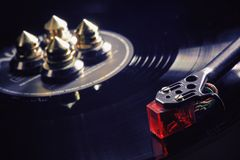 Modern Gramophone in Work Stock Photography