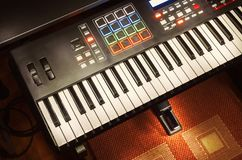 Modern Midi Controller Royalty Free Stock Images