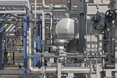 Details of a modern natural gas processing plant Stock Photos