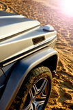 Details of modern off-road luxury car. Royalty Free Stock Photos