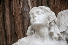 Details of the monument dedicated to the poet Gustavo Adolfo Becquer in Seville. Monument dedicated to Seville poet Gustavo Adolfo Becquer in the park of Maria Royalty Free Stock Photos