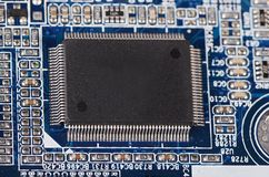 The details motherboard as a background Royalty Free Stock Photo