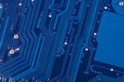 The details motherboard as a background Royalty Free Stock Photos