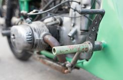 Details on motorbike. Photo of an abstract texture Royalty Free Stock Image
