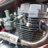 Details on motorbike. Photo of an abstract texture Royalty Free Stock Photo