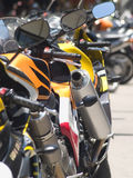 Details of motorbikes Stock Photo