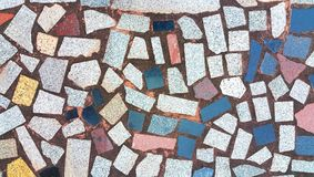 Details of multicolor mosaic floor Royalty Free Stock Image
