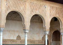 Details of the Myrtles (Patio de los Arrayanes) in  Alhambra Stock Photos