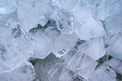 Details of natural ice cubes, a natural artwork Stock Photos