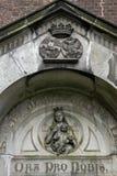 Details of Neo-gotic forest chapel Wixhou, Belgium Stock Photos