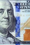 Details of new hundred dollar bill Stock Photos