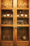 Wooden Cabinet and Accessories royalty free stock images