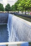 Details of the North Pool in the 9-11 Memorial Park in New York, USA stock image