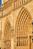 Details of Notre Dame de Paris Cathedral.France. Stock Photo