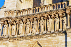 Details of Notre Dame de Paris Cathedral.France. Stock Photography